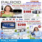 Media Player Tablet Palroid Android PR220HD PR70PRO