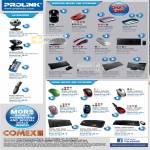 Prolink Webcam Mouse Wireless Bluesurf Keyboard Bluetooth Touchpad Car Charger Laser