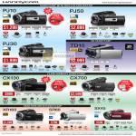 Video Camcorders Handycam HDR PJ10 PJ50 PJ30 TD10 CX130 CX700 XR160 SR68 SX45