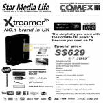 Xtreamer Media Player Streamer Specifications NVidia 3DTV Play