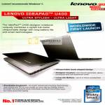 Lenovo IdeaPad U400 Notebook Features