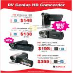 Systems Tech Ranger Camcorder DV Genius 1000 3000 4600 600X HD DVGenius
