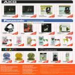 AKG MK II Studio Panasonic Headphones Urbanz Hook-In Stud Boom Audio Technica ATH CK1 EQ300M CKF300