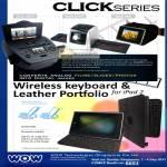 Wow Click Series C979 S170 A90 Film Scanner Photograph Bluetooth Wireless Keyboard Leather Portfolio IPad 2