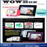 Wow WowBox 35 08 Wireless Internet Buffet Radio Videos Photos Alarm Clock Apps