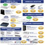 Networking ADSL2 Modem Router Wireless Adapter 3G NWD 270N 2205N 210N NBG 4115 Switches ES 100 Zywall USG-20 Print Server Homeplug