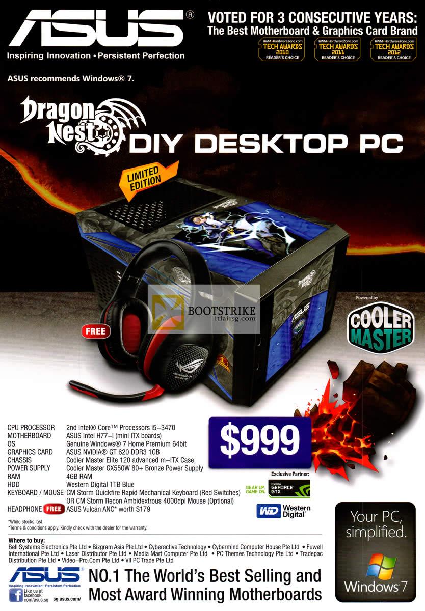 COMEX 2012 price list image brochure of ASUS Desktop PC Dragon Nest