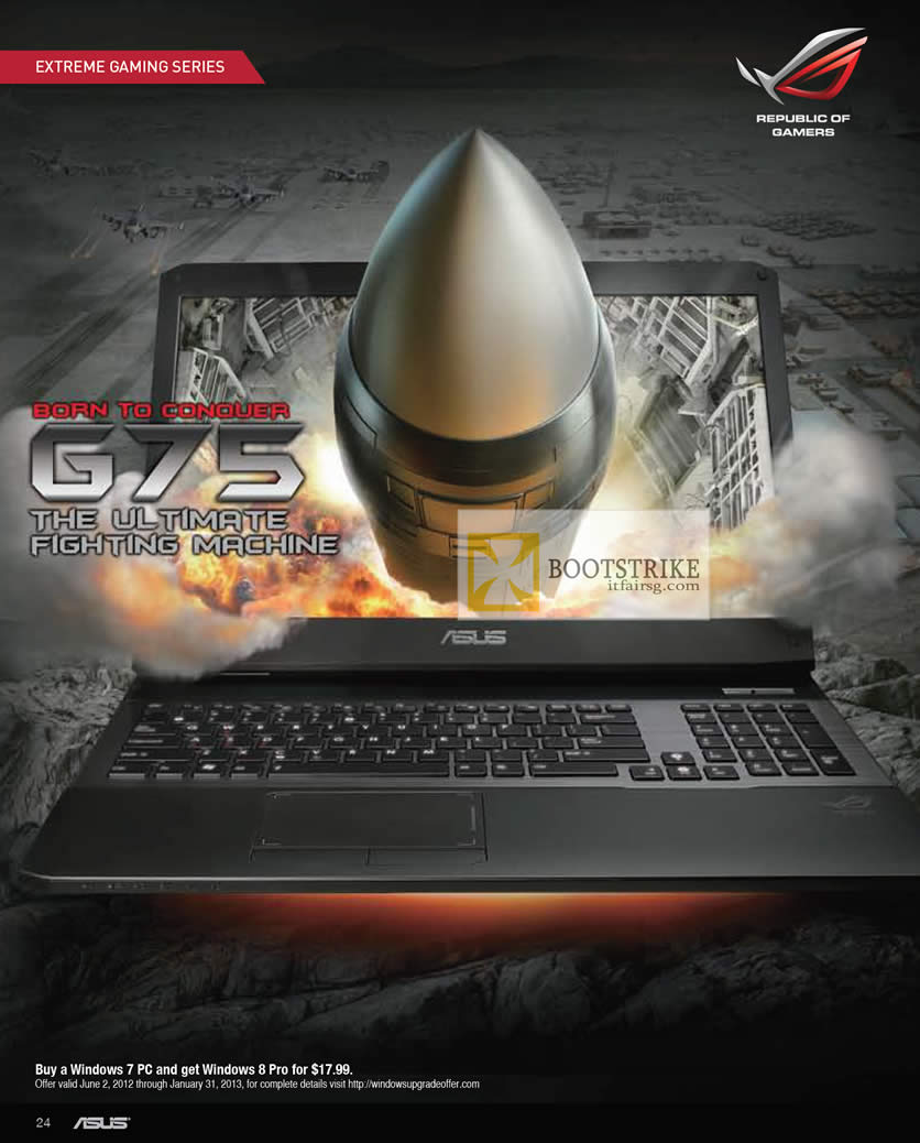 COMEX 2012 price list image brochure of ASUS Notebooks G75 Gaming