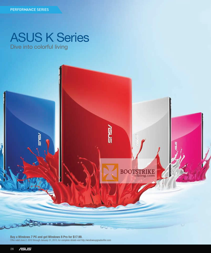 COMEX 2012 price list image brochure of ASUS Notebooks K Series