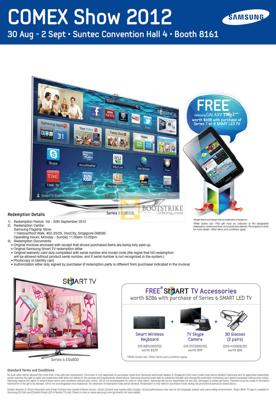 COMEX 2012 price list image brochure of Audio House Samsung Smart TV Series 6 ES6800