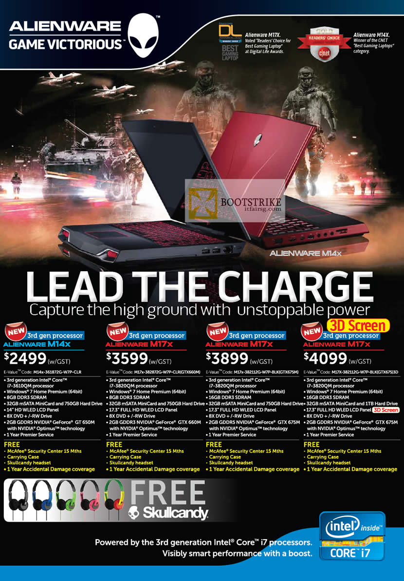 COMEX 2012 price list image brochure of Dell Reseller Notebooks Alienware M14x, Alienware M17x