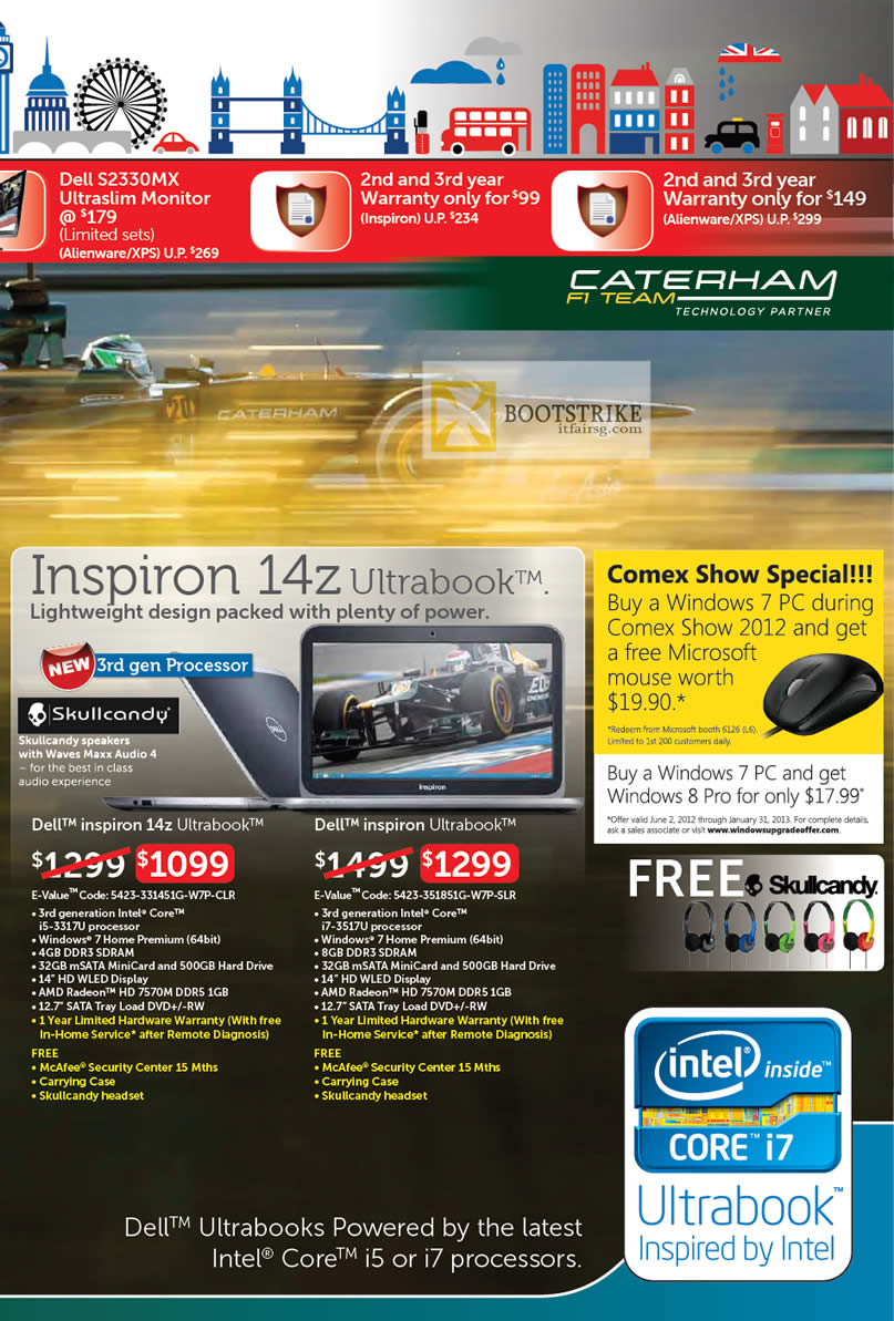 COMEX 2012 price list image brochure of Dell Reseller Notebooks Inspiron 14z Ultrabook, Inspiron Ultrabook