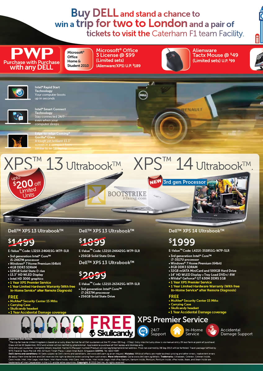 COMEX 2012 price list image brochure of Dell Reseller Notebooks XPS 13 Ultrabook, XPS 14 2