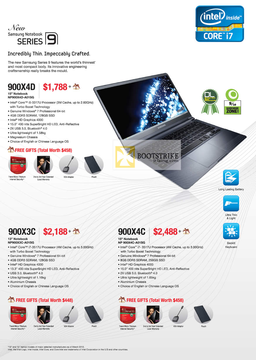 Samsung notebook in singapore - Comex 2012 Price List Image Brochure Of Samsung Notebooks Series 9 Np900x4d A01sg Np900x3c