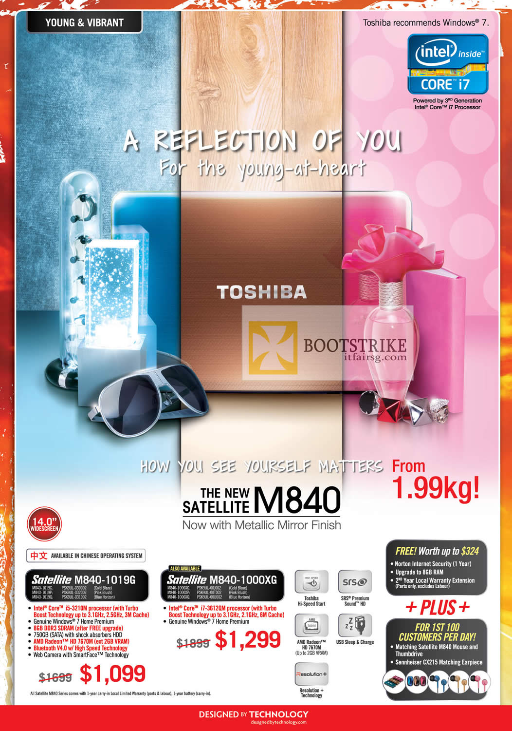 COMEX 2012 price list image brochure of Toshiba Notebooks Satellite M840-1019G, M840-1000XG