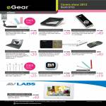EGear Portable Battery Charger, Keyboard, Stylus, IFlow LED Sync Cable, Laptop Stand