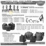 MeFoto Tripod Packages, Versatile Transformer, Modular System Accessories, Camera Backpacks
