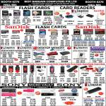 Best Bargain Flash Memory Cards Kingston MicroSD, CompactFlash, Card Reader, SDHC Sandisk, Cruzer, RAM Memory, Apotop Corsair, Sony Micro Vault Drive
