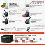 Networking Wireless AirStation HighPower Routers AirStation NFiniti N150 N300 Giga N600 N450, NAS Terastation Pro Duo