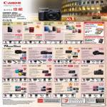 Digital Cameras Ixus 510 HS 500 HS 240 HS 125 HS, PowerShot G1X G12 S100 SX40 HS D20 SX 240 260 SX150 IS, A4000 IS A3400 A2400 A2300