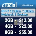 Crucial DDR3 Memory RAM