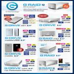 G Raid External Storage G Drive, Mini, Mobile USB, Raid, Aluminium, Thunderbolt