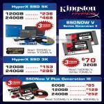 Kingston SSD HyperX 5K, SSDNow V Series Generation II, HyperX SSD 3K, SSDNow V Plus Generation III