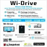 Kingston Wi Drive Wireless Storage Expansion