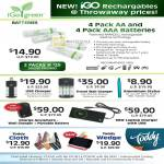 IGo Green AA AAA Battery Ramcell, Charger, Toddy Cloth, Wedge