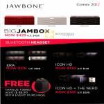 Jawbone Big Jambox, Bluetooth Headset, ERA, Icon HD, The Nerd