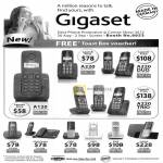 Gigaset Phones A120 A220 DUO TRIO, AS10, A590 Combo, C300, C610, E500, SL400A