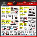 Accessories Bluetooth Keyboard, Headphones, Mouse, Headset, Laser Presenter, Speakers, USB Hub, Webcam, Card Reader