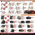 Vanguard Tripods Aluminium Alloy Alta, Auctus, Mak, Nivelo, Bags Adaptor, Kinray, Xcenior, Heralder, Skyborne, Uprise, Biin