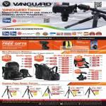 Vanguard Tripods Quovio, Up-Rise II, Pampas II, TBH, Carbon Fiber Abeo, Alta