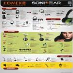 Sonicgear Headphones Xenon, Xanadu, HP, Chromaphone, Loop, Krypton, XBS, Earphones EarPump, Nano Plug, IPlug, Sparkplug, Microphone, Adapters