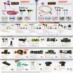 Sensonic Earphones, Zip Cable, Speakers, USB Hub, Card Reader, Webcam