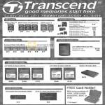 Transcend SD Flash Memory Cards, MicroSD, CompactFlash, External Storage StoreJet, SSD, USB Card Reader