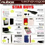 Nubox Apple Accessories Case, Dexim Car Charger, Gosh, X-Doria, Klipsch S4i Earphones, Skech, Lifeproof