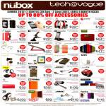 Nubox Apple Accessories Cases Griffin Belkin Uniq, Jays Earphones, Jaybird SB2 Bluetooth Headset, Bose IE2, Jawbone Jambox, LunaTik, Jabra