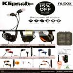 Nubox Klipsch Earphones Image One S3 S4 S4i Rugged X7i X10i, Reference One S4 S4i, Mode M40