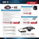 Digital Camera OM-D Accessories Neck Camera Strap, Wireless Flash FL-600R, Battery BLN-1, PT-EP08, PPO-EP01