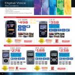Digital Voice Recorders LS-20M, LS-3, WS-813, WS-812, DM-650
