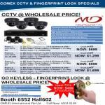 Microdigital MD CCTV Dome Cameras Security, Network DVR, Fingerprint Lock