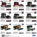 Video Graphic Cards Afox Radeos 7850, 6570, Nvidia GTX550, GT610, GT640, ECS GT610, GTX580