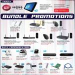 Tablet PC TW8, Bundles, Powerline Wireless Extender, IPCam, USB Modem, Powerline AV Adapter, PCI LAN Card, Cable