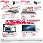 Broadband ADSL 15Mbps Free Acer Aspire V5, Samsung Notebook Series 9, Samsung 32 Smart LED TV, Apple MacBook Pro, Mio TV