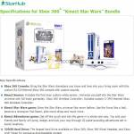 Free Xbox 360 Kinect Star Wars Bundle Specifications