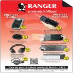 Systems Tech Ranger Wireless Bluetooth Solar Car Kit, Touchpad, Pointer, Keyboard, Mouse, Headset