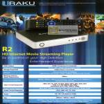 Uraku R2 HD Internet Movie Streaming Player Specifications