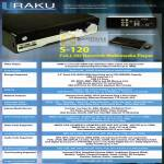 UKC Electronics Uraku S-120 Network Multimedia Media Player Specifications